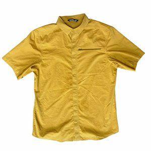 Arc'teryx Kaslo Shirt Mens Medium Short Sleeve Button Down Yellow Gold